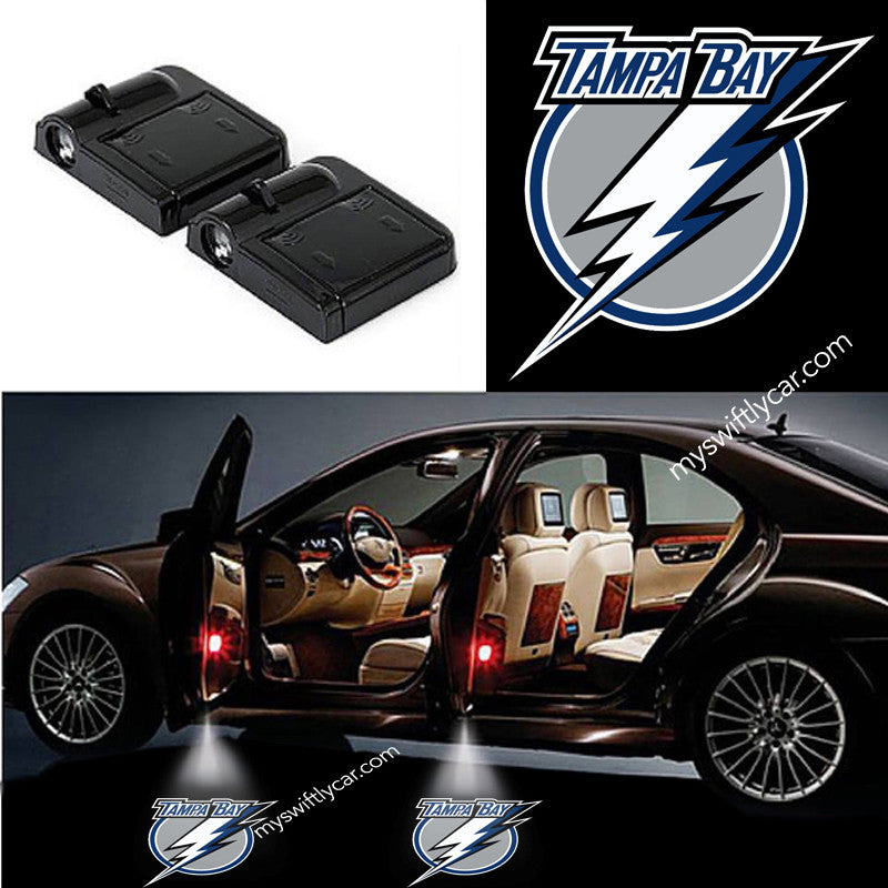 2 Wireless LED Tampa Bay Lightning Shadow Car Door Light