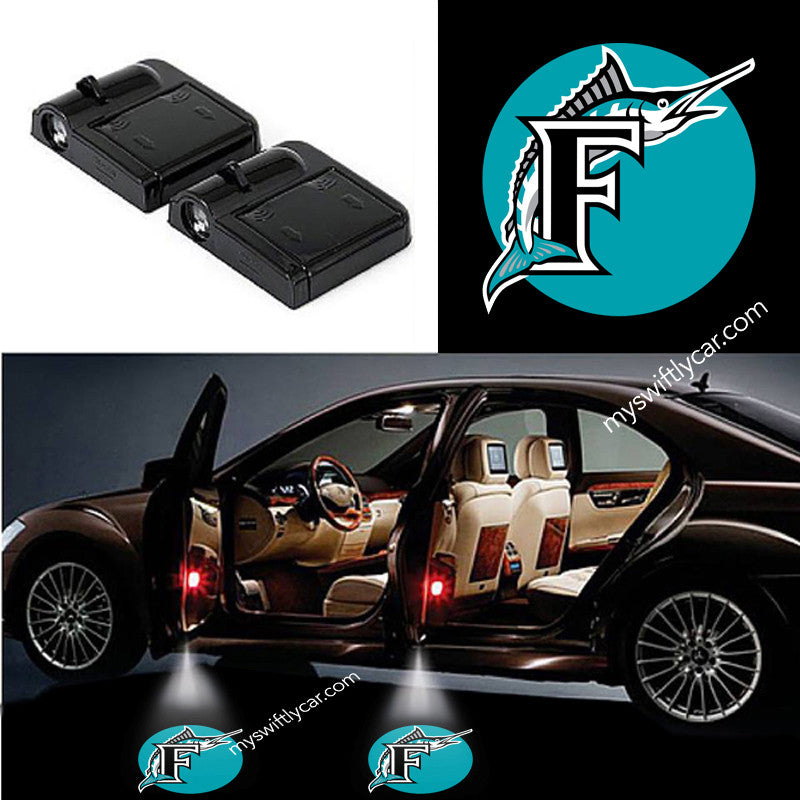 Florida Marlins best cheapest free wireless car light logo led