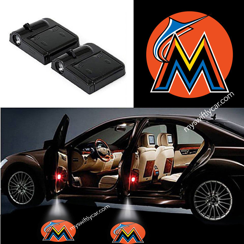 Miami Marlins best cheapest free wireless car light logo led