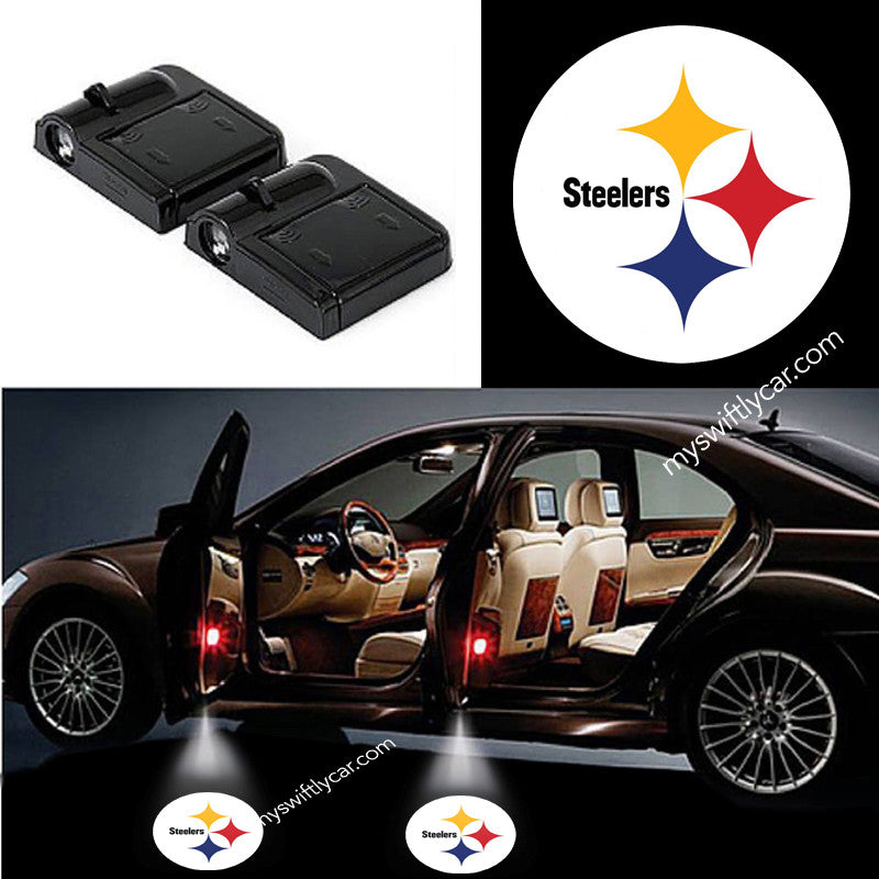 2 Wireless LED Laser Steelers Shadow Car Door Light