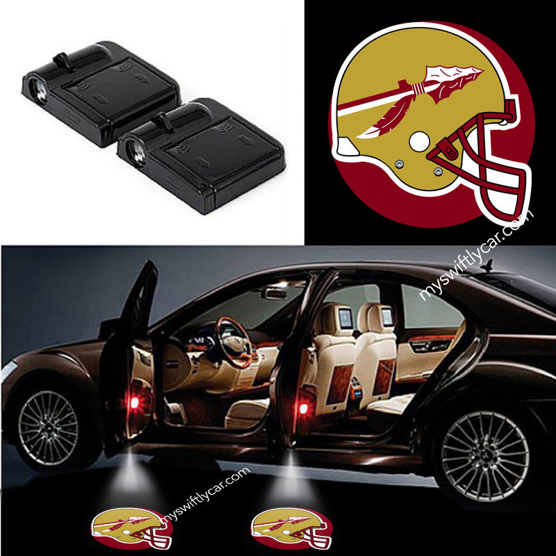 2 Wireless LED Florida State Seminoles Shadow Car Door Light