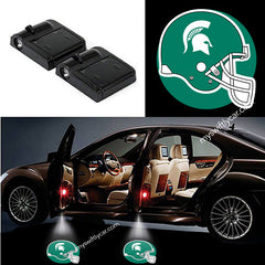 Wireless LED Michigan State Spartans Shadow Car Door Light