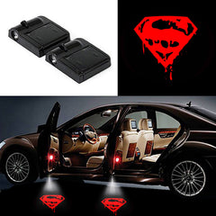 2 Wireless LED Laser Car Door Light Projector Hero Series