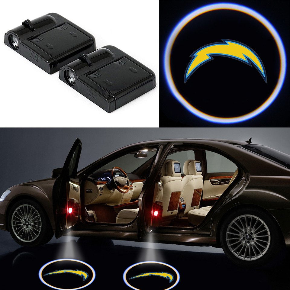 2 Wireless LED Laser San Diego Chargers Car Door Light