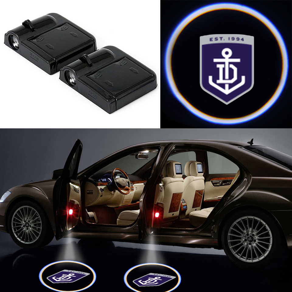 2 Wireless LED Fremantle Dockers Car Door Light