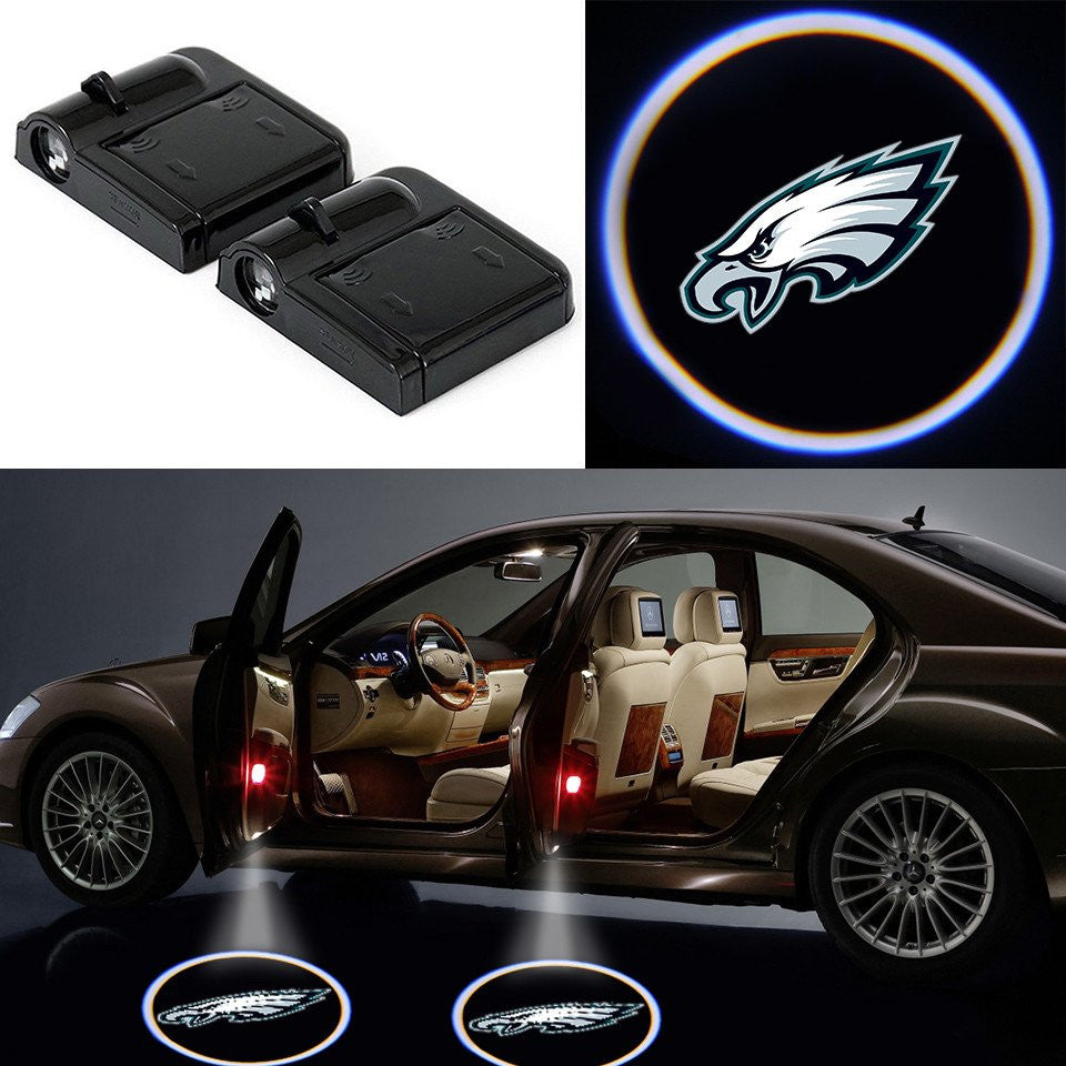 2 Wireless LED Philadelphia Eagles Car Door Light