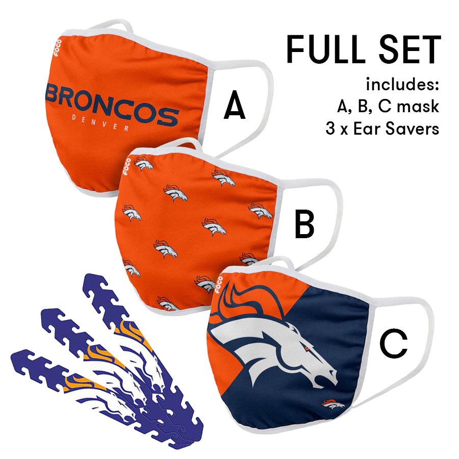 Denver Broncos Mask and Ear Saver