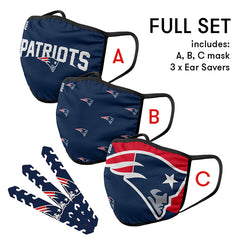New England Patriots Mask and Ear Saver