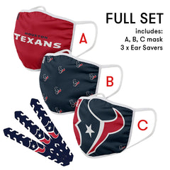 Houston Texans Mask and Ear Saver