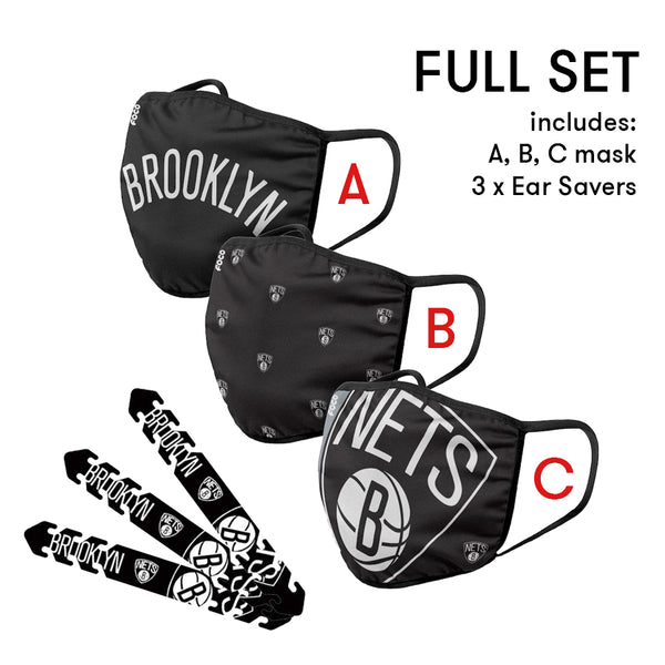 Brooklyn Nets Mask and Ear Saver