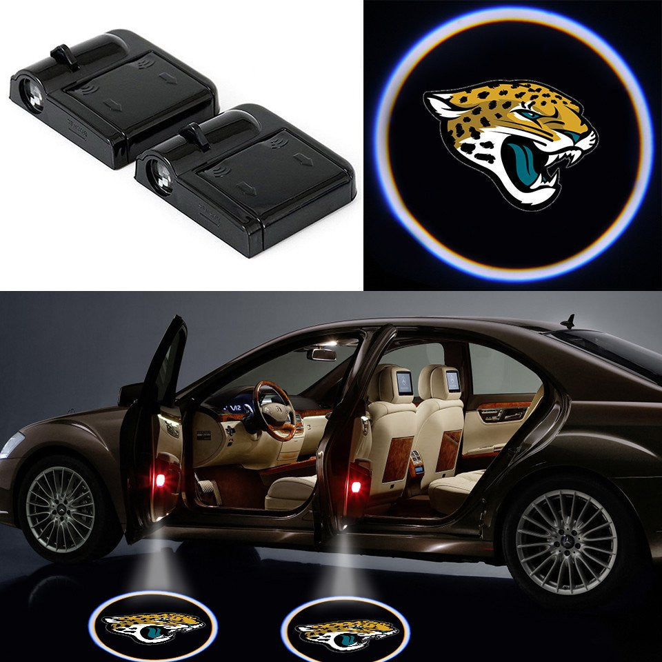 2 Wireless LED Laser Jaguars Shadow Car Door Light