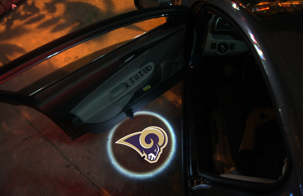 2 Wireless LED Laser St Louis Rams Shadow Car Door Light
