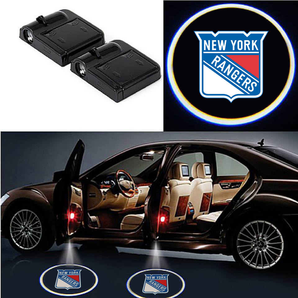 2 Wireless LED Laser New York Rangers Car Door Light