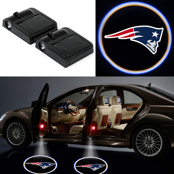 2 Wireless LED Laser Patriots Car Door Light