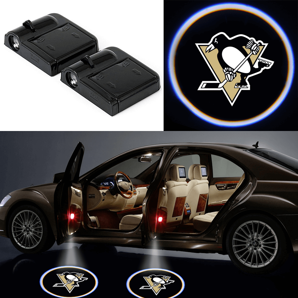 pittsburgh penguins logo led car light