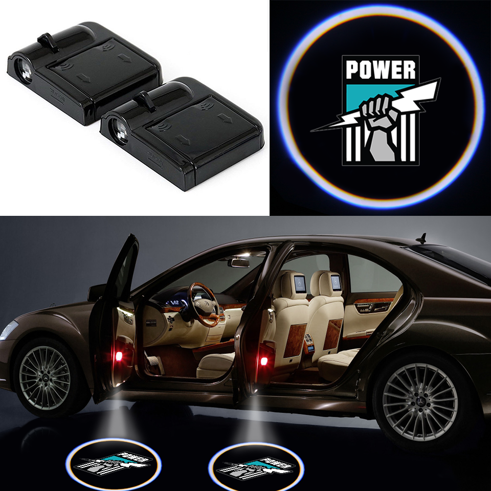 2 Wireless LED Laser Power Shadow Car Door Light