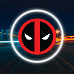 2 Wireless LED Laser Deadpool Car Door Light