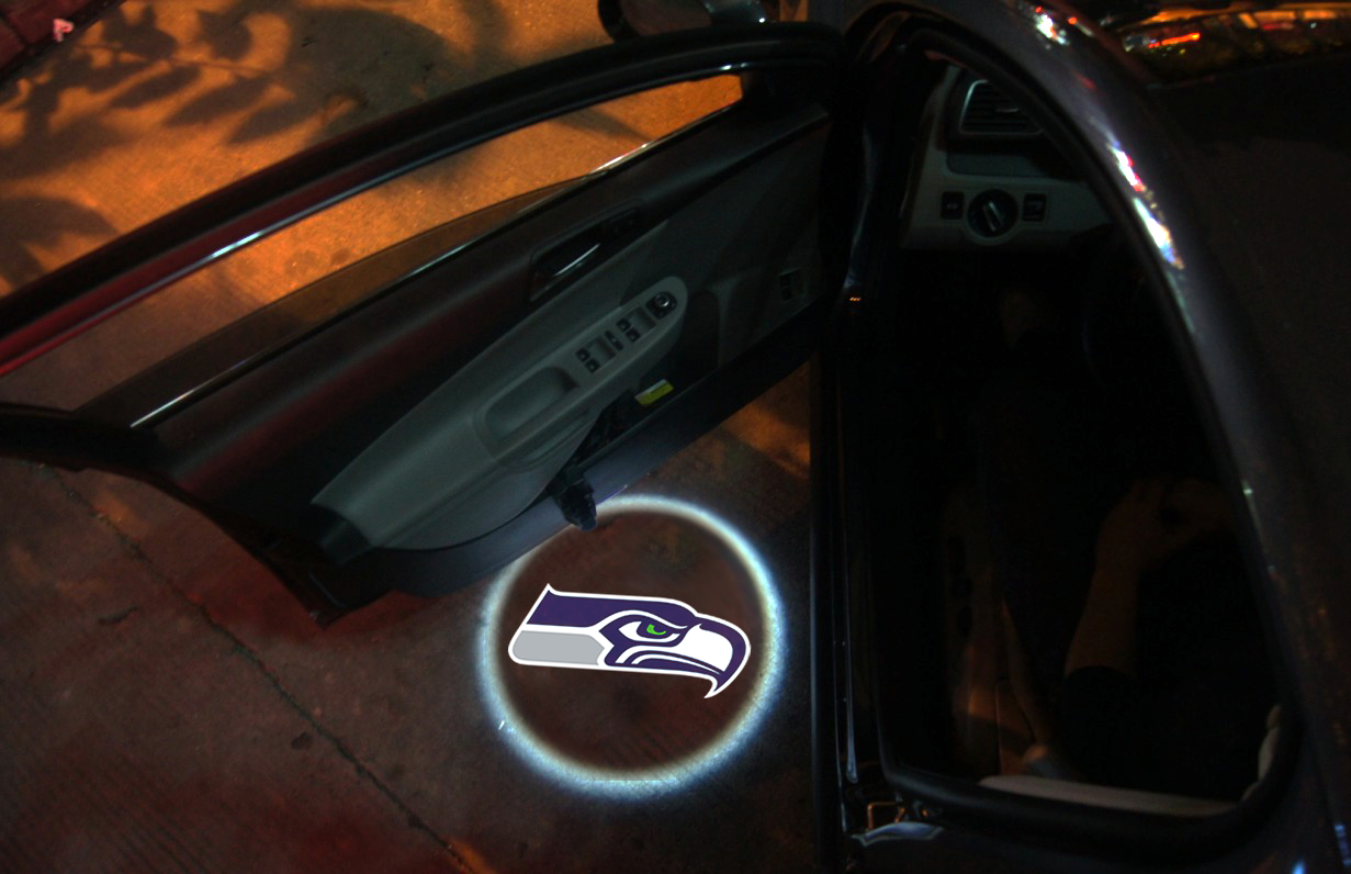 2 Wireless LED Laser Seahawks Car Door Light