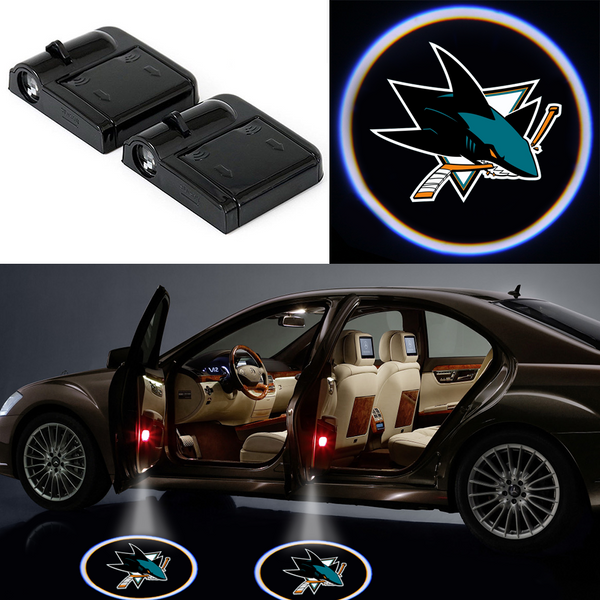 2 Wireless LED Laser San Jose Sharks Car Door Light