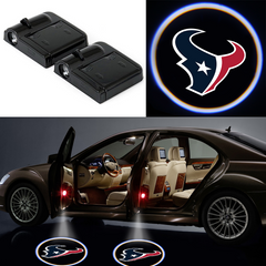 2 Wireless LED Laser Texans Car Door Light