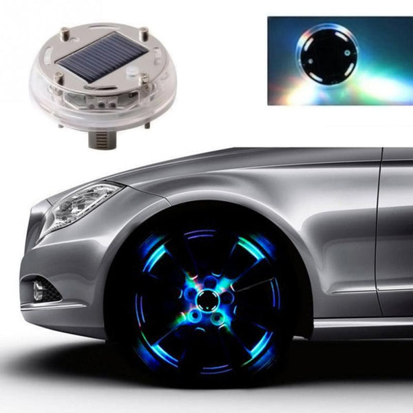 4 Halo Effect Solar Powered Custom Strobe Rim Lights (Fully Waterproof)