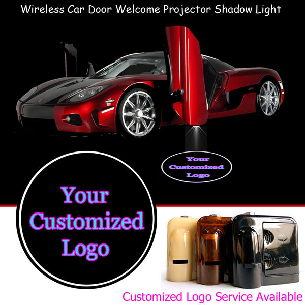 2 Wireless Car Brand LED Light Logo