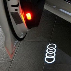 2 Custom Wireless Car LED Light Logo
