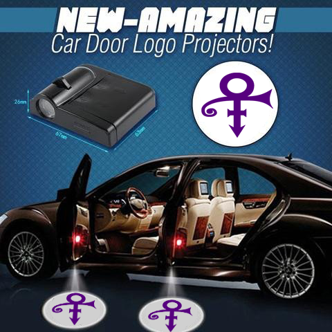 2 Wireless LED Laser Prince Car Door Light
