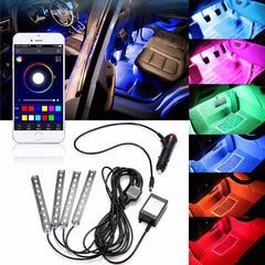 Multicolor Interior Car LED Lights with Phone Control (Wireless App)