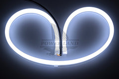 (White+Blue) Flexible Headlight Daytime Lamp Switchback Strip Angel Eye Decorative Light With Turn Signal