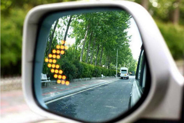 2 LED Car Signal Safety Lights For Rear View Mirror