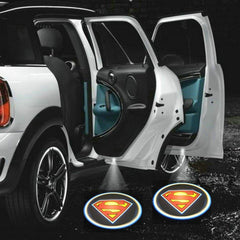 Superman wireless car led light logo best cheapest free