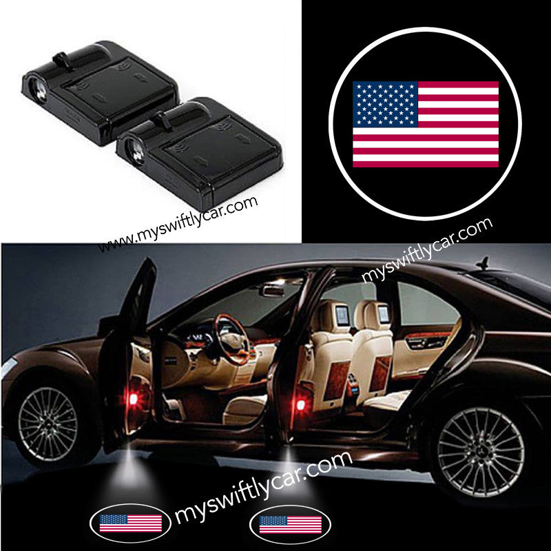 2 Wireless Cars Light for United States Flag