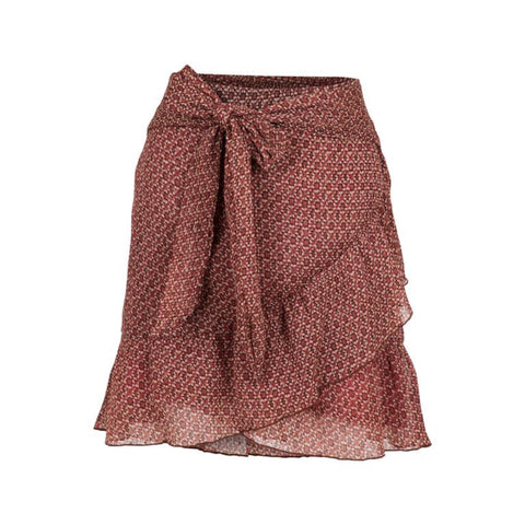 Bella Mosaic Skirt - Red (1895595671587)