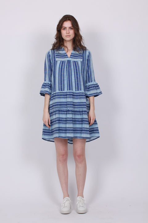 Gunvor Stitch Dress - Light Blue