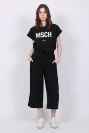 Leaf Linen Trouser - Black