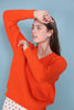 Faine Knit V-neck - Scarlet Ibis - Second Female - Gensere - VILLOID.no