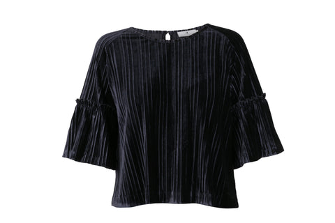Marine Arniesays: Halcyon Velvet Pleat Topp