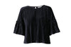 Marine Arniesays: Halcyon Velvet Pleat Topp - ArnieSays - Topper - VILLOID.no