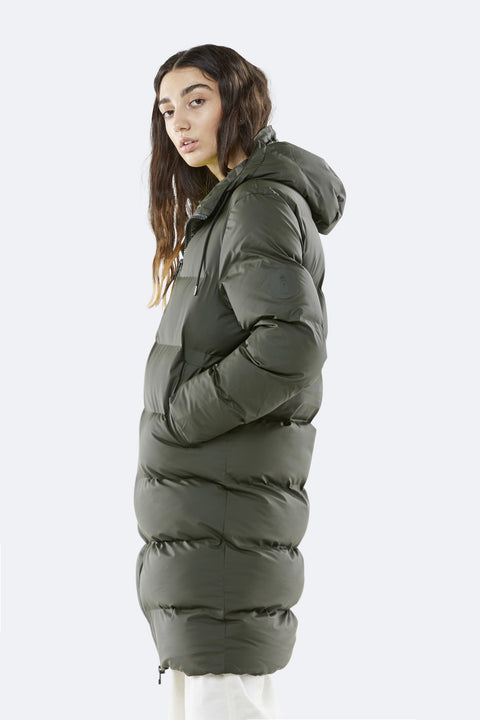 Long Puffer Jacket - Green (4439442686061)