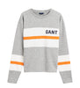 Graphic Block Stripe C-Neck - Light Grey Melange - GANT - Gensere - VILLOID.no