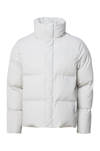 Rains Boxy Puffer Jacket - Off White