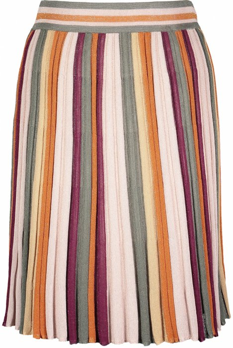 Pleated Stripe Skirt - Multicolor (4432199549037)
