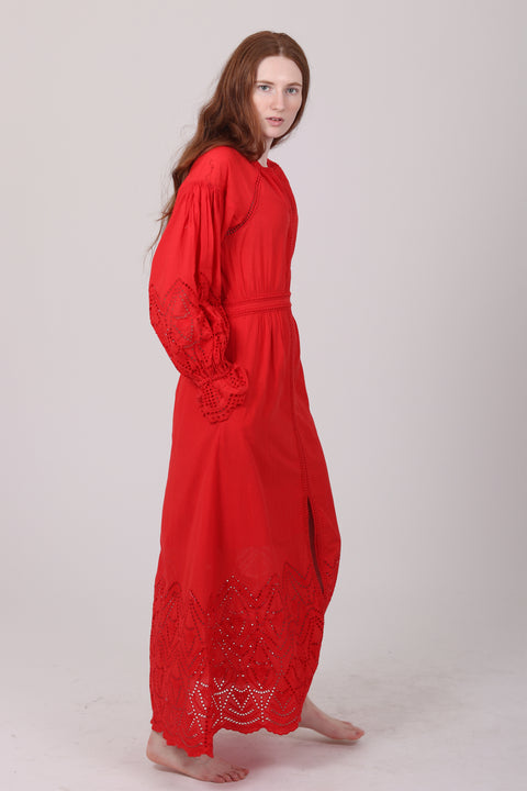 Agnes Long Dress - Red