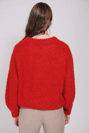 April Mohair Sweater - Fire Orange