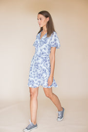 Print Floral Wrap Dress - Skyway