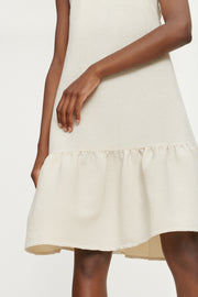 Judith Short Dress - Warm White