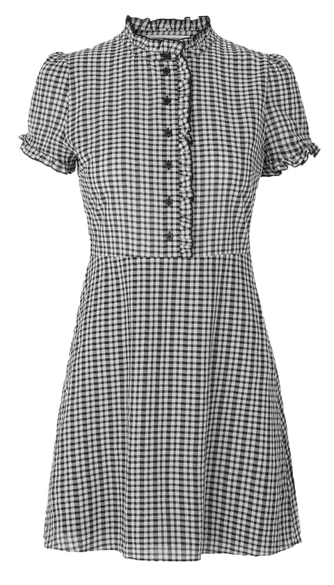 Zarani Short Dress - Black Check