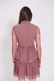 Gina mini dress - Aurbergine