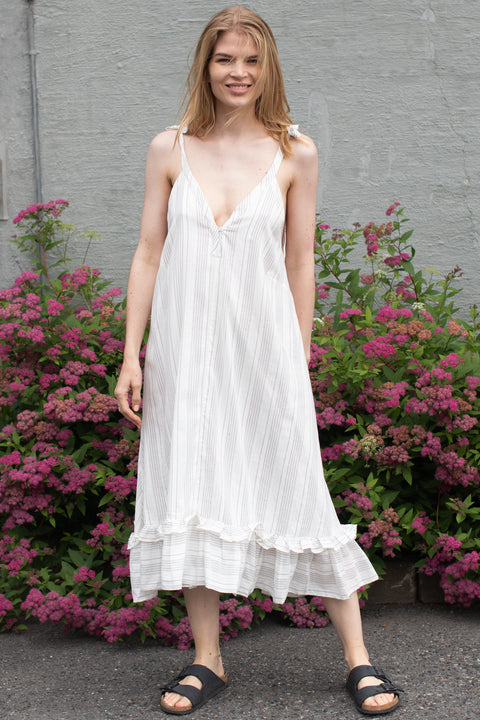 2nd Hand Sel Dress - White Stripe XS (4473941622893)